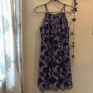 Francesca's purple and blue lace dress